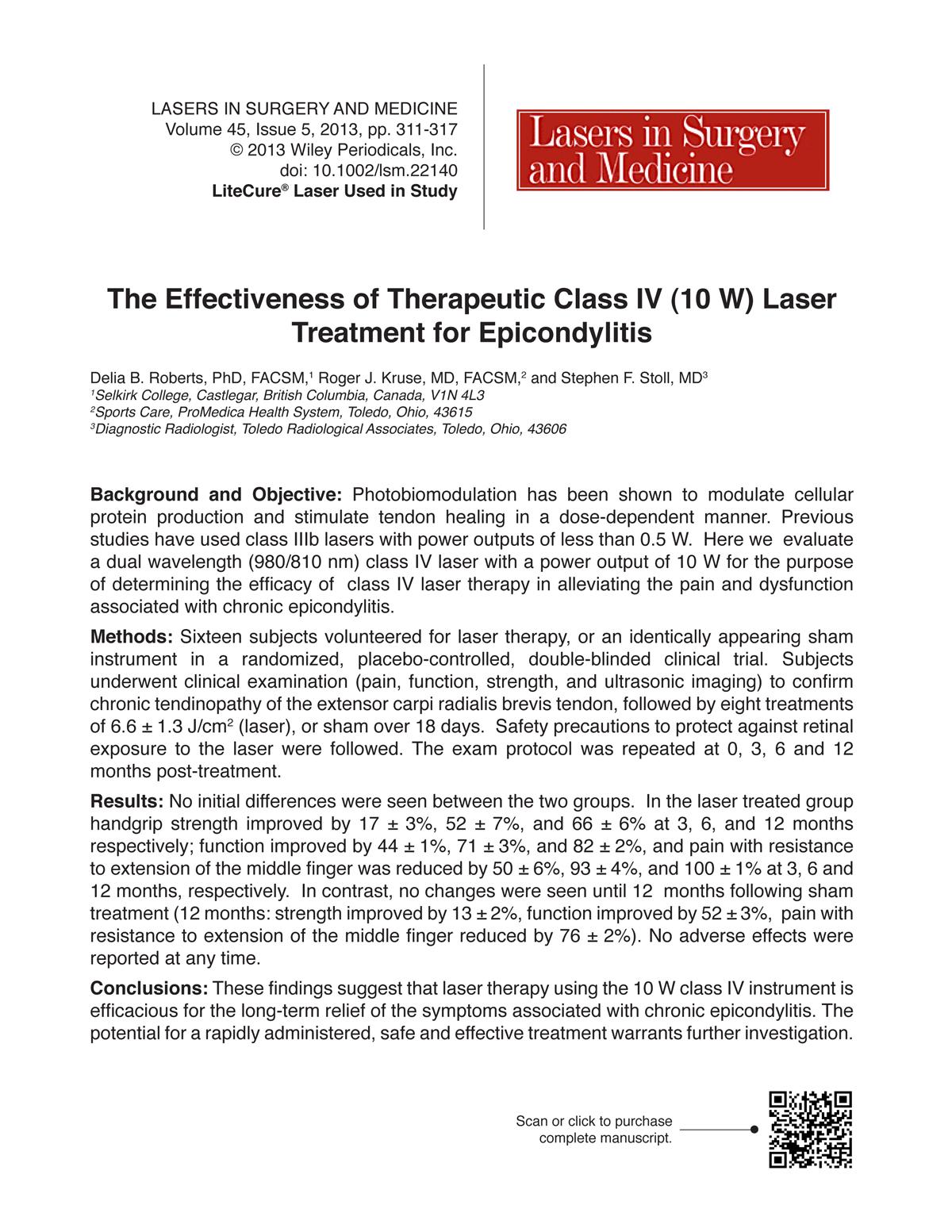 Roberts 2013 Epicondylitis Abstract_Thumbnail