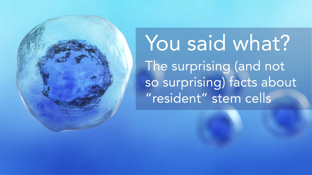 The surprising facts about resident stem cells
